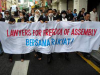 Human rights march: 5 lawyers arrested